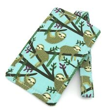 Lazy Sloth Fabric Travel Luggage Tag - Bag Tag - Travel Accessories