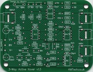 Line-level Active 3-way Crossover Filter v1.3 PCB only DIY Audiophile