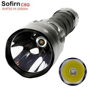 Sofirn C8G Powerful 21700 LED flashlight Cree XHP35 HI 2000lm 18650 Torch