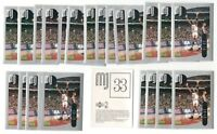 (x100) 1998-99 Upper Deck MICHAEL JORDAN #33 Basketball sticker card lot/set MJ!
