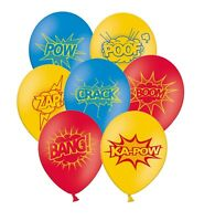 "Superhero Collection 12"" Assorted with Yellow Latex Balloons 5ct by Party Decor"