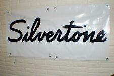 Vintage Silvertone Guitar Amp Banner Store Display Dealer Banner 2' x 4' Studio