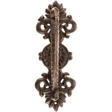 Heavy Cast Iron Lion door Pull handle antique finish ornate victorian rustic