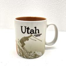 Starbucks UTAH Icon Series Mug 2012 16 oz Skier Snow Orange Discontinued RARE