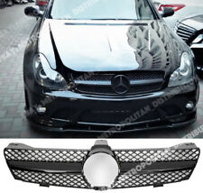 MERCEDES C219 2004-08, Single-FIN Griglia, CLS63, CLS55 Nero Lucido/serie/AMG/look.