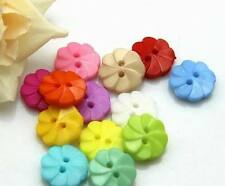 50pcs mixed plastic flower pattern buttons fit sewing or scrapbooking 13mm
