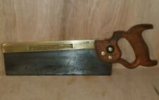 "Vintage Tyzack And Sons 12"" Tenon Saw, Sharpened"