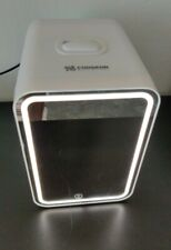 New listing Personal Chiller Led Cooseon Mini Fridge with Mirror Door Chill or Warm - White