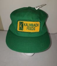 VTG Kalmbach Feeds Baseball Cap Patch Logo Snapback Hat K Products Ear Tags NWT