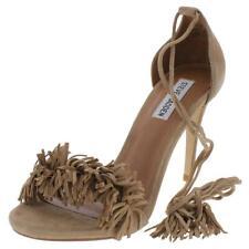 Steve Madden Womens Sassey Beige Dress Sandals Shoes 6.5 Medium (B,M) BHFO 1108