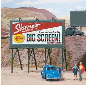 Walthers SceneMaster HO Scale Cruisin' Roadside Billboards Signs (Kit 3-Pk)