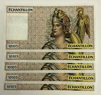 France Test note 10103 Echantillion UNC