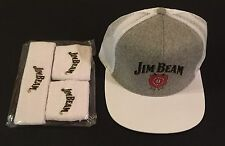Jim Beam Gift Set - Adjustable Cap / Hat - SnapBack - Wrist Band & Head Band Set