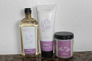 Bath & Body Works Aromatherapy Rose & Lavender Body Wash~Body Lotion~7 oz Candle