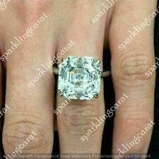 3.00 Ct Asscher Cut VVS1 Diamond Solitaire Engagement Ring 14K White Gold Finish
