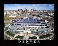 Denver Broncos Gameday at SPORTS AUTHORITY FIELD Mile High Aerial View POSTER
