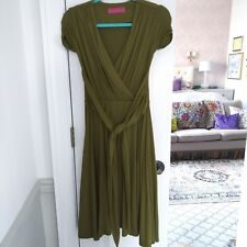 e0612dd82bb5d Melissa Masse Green Wrap Dress XS 0 Made In USA