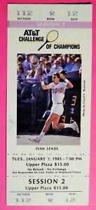 ATT&T TENNIS CHALLENGE OF CHAMPIONS ORIG USED TICKET JAN 1 1985 LAS VEGAS LENDL