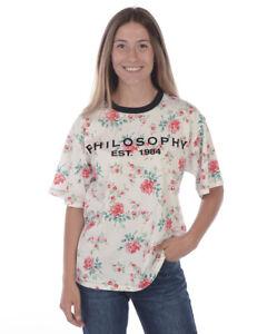 T-shirt Maglietta Philosophy Sweatshirt Donna Bianco CA07027146 1002