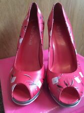 Rare Red Or Dead Heels Peep Toe Pink Size 6 Vintage Boxed New