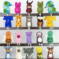 Handmade Assorted Felt Finger Puppets|Educational Baby Nursery Children Kids Toy