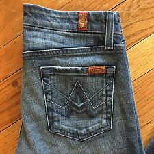 7 seven for all mankind A Pocket Jeans Size 26 Denim Boot Cut Stretch  Dark -B