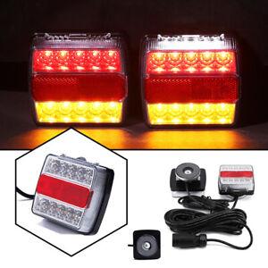 LED Rückleuchten Anhänger Set PKW Beleuchtung Rücklicht Magnet 7poliger 7.5M