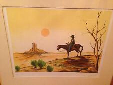Unknown Artist Original Lithograph Signed Arizona Grand Canyon Wyoming RARE HTF