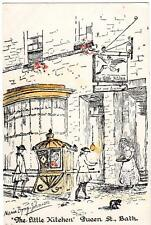 Little Kitchen Queen St Bath artist M Byng-Johnson old pc used 1930's