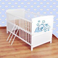 Babybett  Kinderbett - Juniorbett umbaubar 140x70 Weiß nr 19
