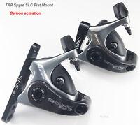 TRP SPYRE SLC Bike Road Carbon Mechancial Disc Brake Caliper Rotor 160mm