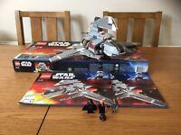 LEGO STAR WARS 8096 EMPEROR PALPATINE'S SHUTTLE BOX, INSTRUCTION & MINIFIGURES