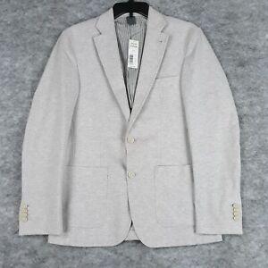 Crosby & Howard Blazer Men Small Gray Slim Fit Knit Jacket Casual New