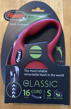Flexi Classic Retractable Cord Leash - Red - Small for Dogs up to 26lbs - NEW!