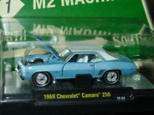 M2 MACHINES 1969 69 CHEVY CAMARO 250 COLLECTIBLE MUSCLE CAR -Light Blue, MIP