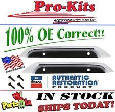 Mopar 67 Plymouth GTX Twin Hood Scoop OE Correct Chrome Bezels COMPLETE w/Screws
