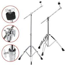 Cymbal Boom Stand 2 Pack Drum Hardware Double Braced Arm Chrome Percussion
