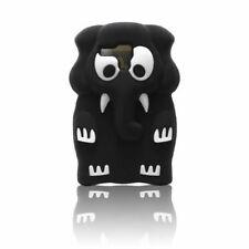 Apple iPhone 4 4s 4g BACK CASE 3D Muster Hülle Handy Case Tasche Elefant Schwarz