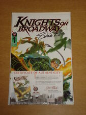 KNIGHTS ON BROADWAY #1 SIGNED BY STEVE MILO JULY 1996