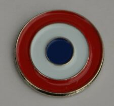 French AirForce Roundel France Target Cocarde Tricolore Quality Enamel Pin Badge