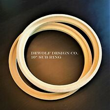 "Subwoofer Spacer Rings 10"" Speaker Size 3/4"" MDF 2 Pieces Inset lip"