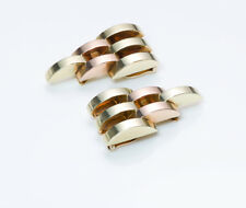 Vintage Cartier Retro Yellow Gold Dress Clips