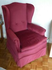 "Easy Chair - Claret - Recently Reupholstered - 41"" High x 31"" Wide x 32"" Deep."