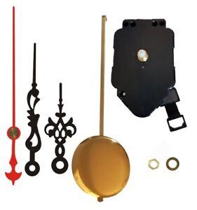 Quartz Wall Clock Pendulum Movement Mechanism DIY Hands Plus Bob Long Shaft