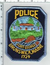 Brunswick Police (Maine) Shoulder Patch - new from 1992