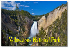 Yellowstone National Park Water Falls, Wyoming, WY, Souvenir Fridge Magnet WY002