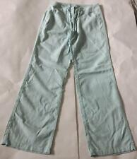Ladies pastel green tailored wide leg linen trousers by F & F 34/32