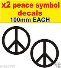 2x simbolo pace karma Yoga AUM Muro in Vinile Adesivo Decalcomania VW Bug Bus Euro Dub JDM