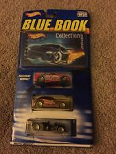 Hot Wheels 2002 3 pack with Blue Book Collection of Cars MIP Factory Sealed