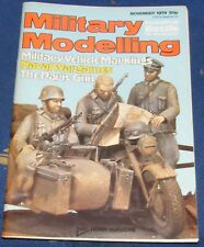MILITARY MODELLING NOVEMBER 1979 - MILITARY VEHICLE MARKINGS/NAVAL WARGAMES